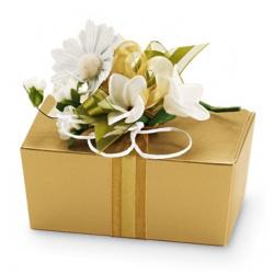 Коробка золотая, шкатулка, арт.1006