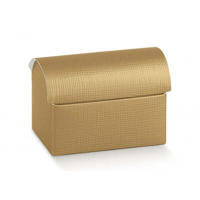 Коробка золотая, сундучок, арт.1068