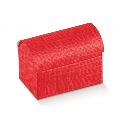 Коробка красная, сундучок, арт.13630