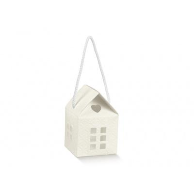Коробка белая, домик, арт.17256