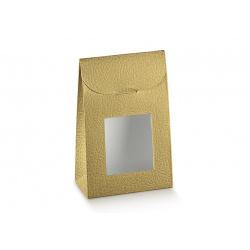 Коробка золотая, сумочка, арт.33637