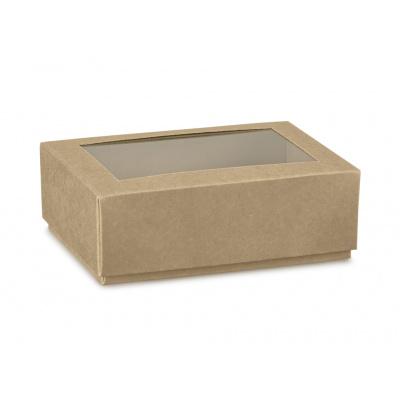 Коробка крафт, крышка-дно с окном, арт.35813