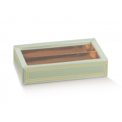 Коробка зеленая, пенал, арт.36229