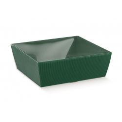 Коробка зеленая, лукошко, арт.37079