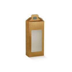 Коробка золотая, чемодан с окном, арт.38458