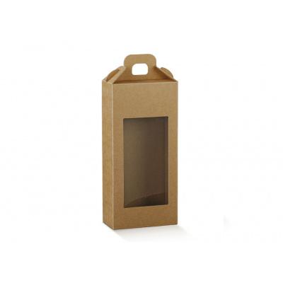 Коробка крафт, чемодан с окном, арт.38542