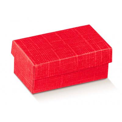 Коробка красная, с крышкой, арт.13654