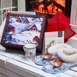 «Снегири» - подарочный набор с чаем