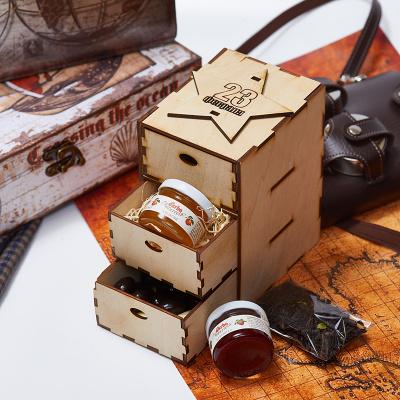 Сладкий подарочный набор с чаем «Комод»