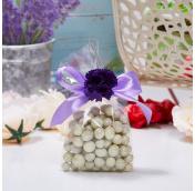 Драже, орехи и сухофрукты в подарочных мешочках