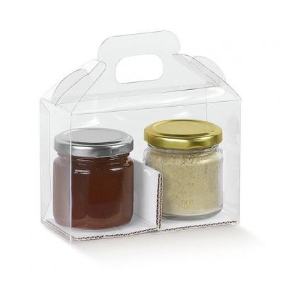 Коробка прозрачная, для 2 баночек, арт.13845
