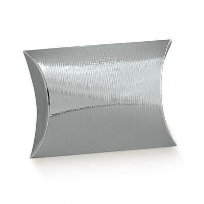 Коробка серебряная, подушка, арт.31308