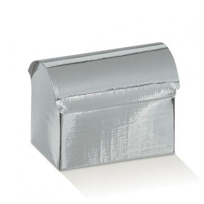Коробка серебряная, сундучок, арт.31315