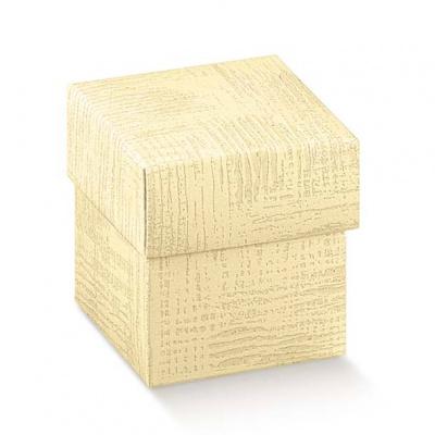 Коробка кремовая, с крышкой, арт.34061