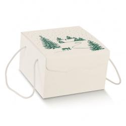 Коробка белая с рисунком, сундук, арт.12938