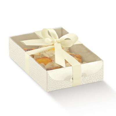 Коробка белая, с крышкой, арт.14565