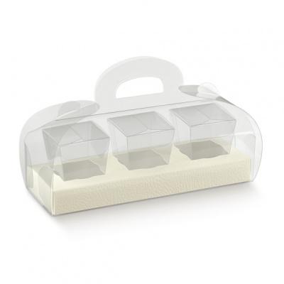 Коробка белая, для кексов, арт.14693