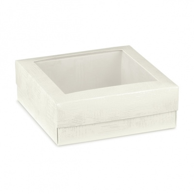 Коробка белая, с крышкой, арт.15089