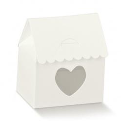 Коробка белая, бонбоньерка , арт.16895