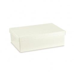 Коробка жемчужно-белая, с крышкой, арт.36368
