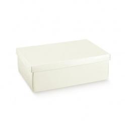 Коробка жемчужно-белая, с крышкой, арт.36371
