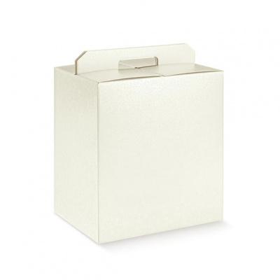 Коробка жемчужно-белая, чемодан, арт.36434