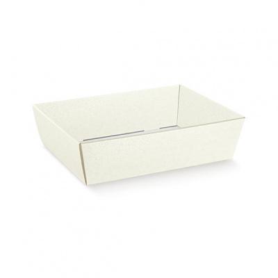 Коробка жемчужно-белая, лукошко, арт.36513