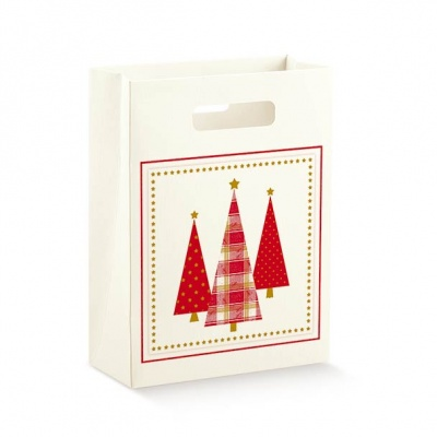 Коробка белая с рисунком, пакет, арт.37874