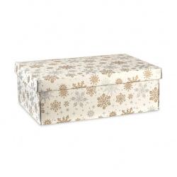 Коробка белая с рисунком, с крышкой, арт.38219