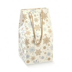 Коробка белая с рисунком, чемодан, арт.38231