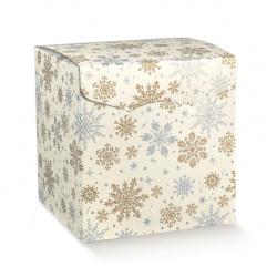 Коробка белая с рисунком, сундук, арт.38238