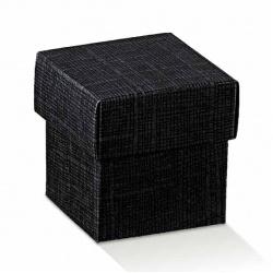Коробка черная, с крышкой, арт.13767