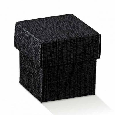 Коробка черная, с крышкой, арт.13769