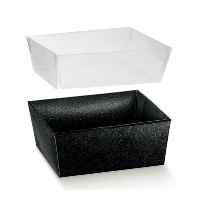 Коробка черная, лукошко, арт.33824