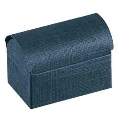 Коробка темно-синяя, сундучок, арт.16208