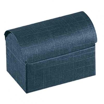Коробка темно-синяя, сундучок, арт.16209