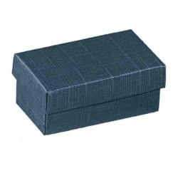 Коробка темно-синяя, с крышкой, арт.16218