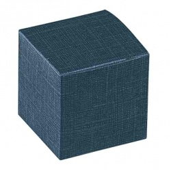 Коробка темно-синяя, кубик, арт.16242