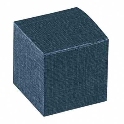 Коробка темно-синяя, кубик, арт.16257