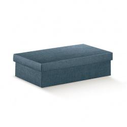 Коробка темно-синяя, с крышкой, арт.16305