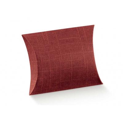Коробка бордовая, подушка, арт.4129