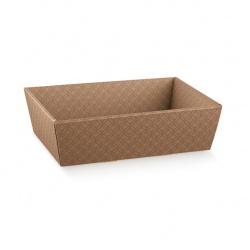 Коробка коричневая, лукошко, арт.37305