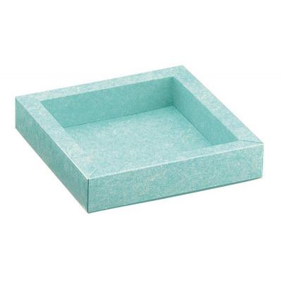 Коробка голубая, плоская, арт.32039