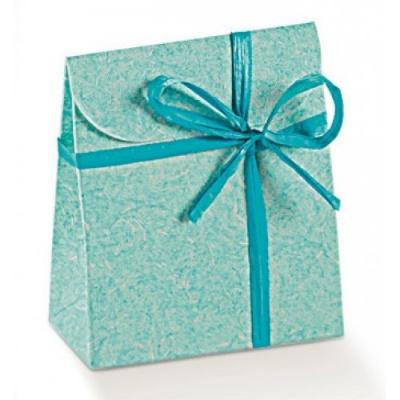 Коробка голубая, сумочка, арт.32042
