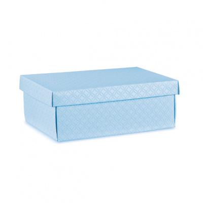 Коробка голубая, с крышкой, арт.37454