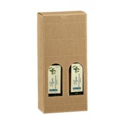 Коробка крафт, для двух бутылок масла, арт.35295