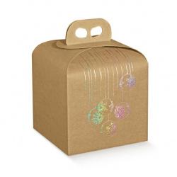 Коробка крафт с рисунком, панеттон, арт.35845