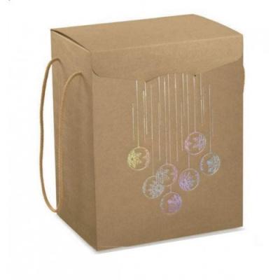 Коробка крафт с рисунком, сундук, арт.35848