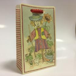 Коробка красная с рисунком, бонбоньерка , арт.12285