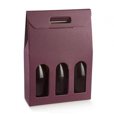 Коробка винная, на 3 бутылки, арт.37712